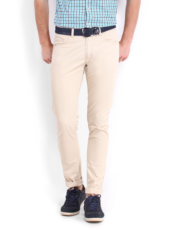 People Men Beige Trousers