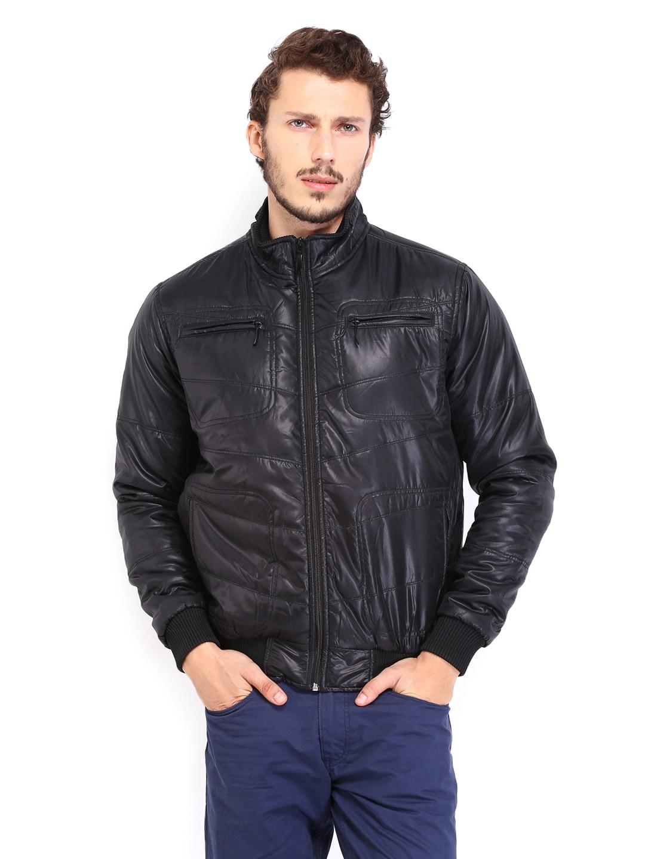 People Men Black Padded Jacket