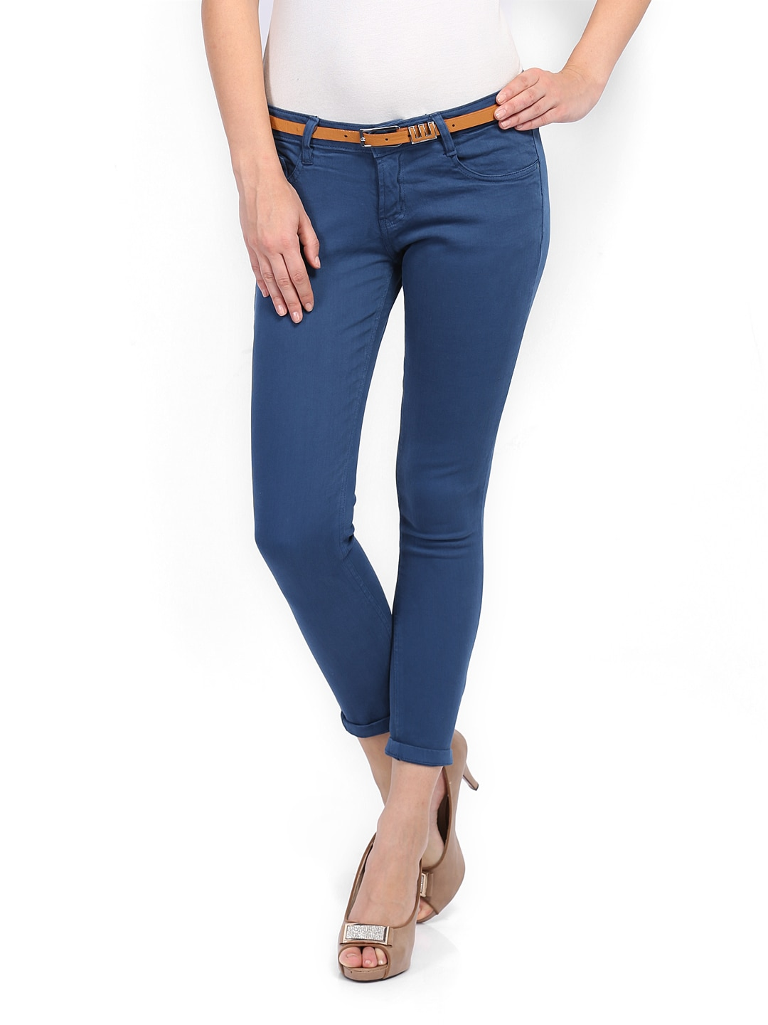 People Women Blue Skinny Fit Jeans