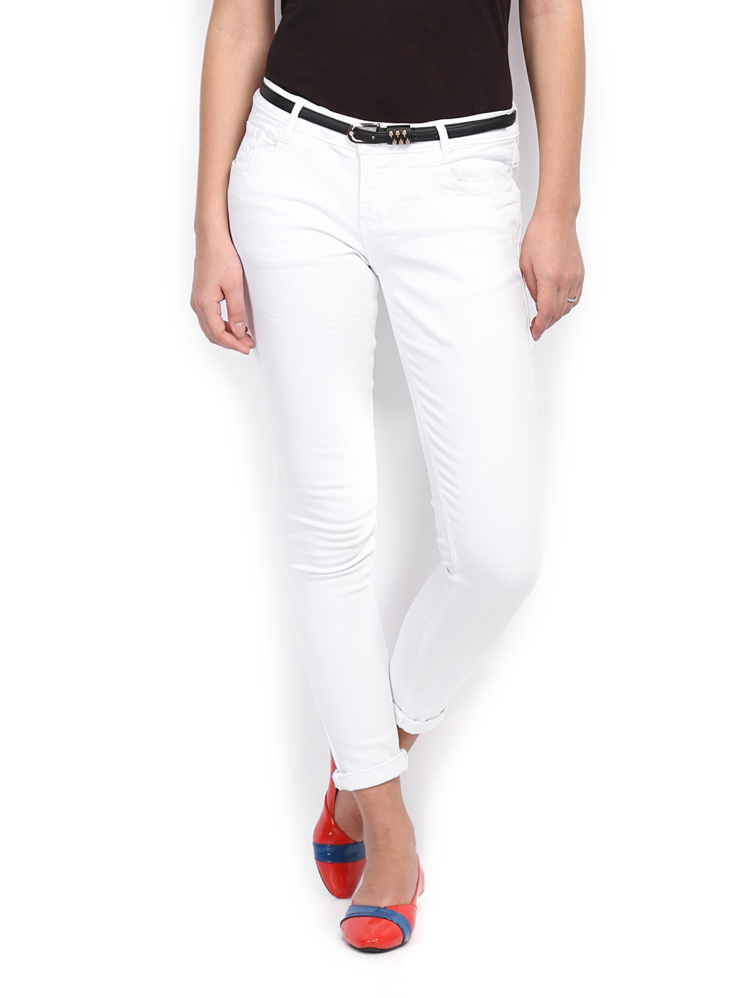 People Women White Jeans
