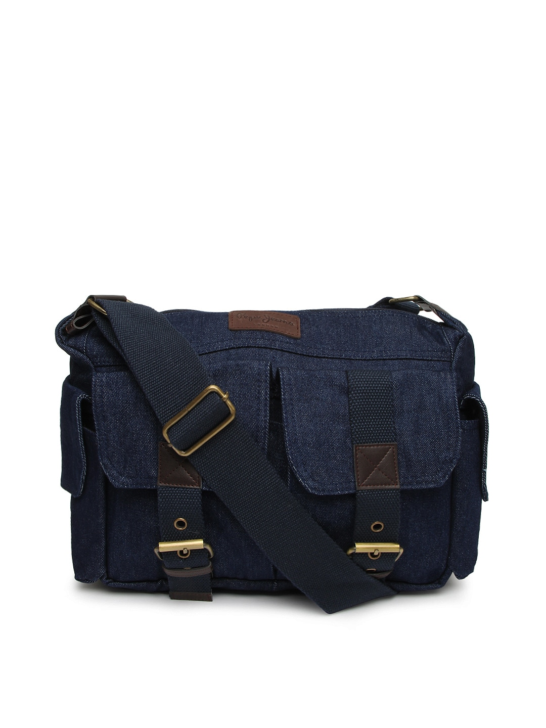 Buy Pepe Jeans Men Blue Denim Messenger Bag 2840376 for online in ...