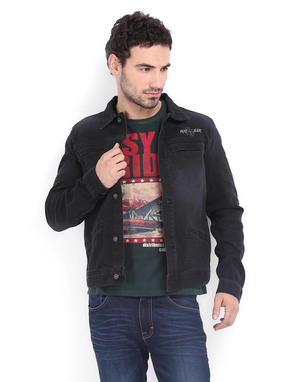Pepe Pepe Jeans Men Black Denim Jacket