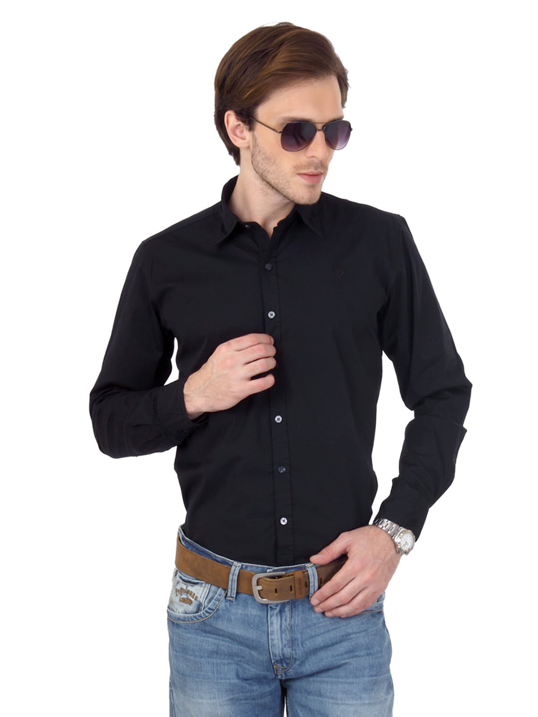 Buy pepe jeans men black shirt 320 apparel for men 69766 for Shirts that go with black jeans