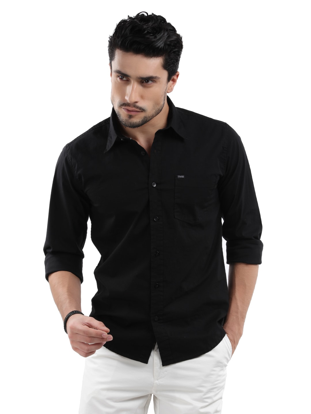 Buy pepe jeans men busker black shirt 320 apparel for for Shirts that go with black jeans