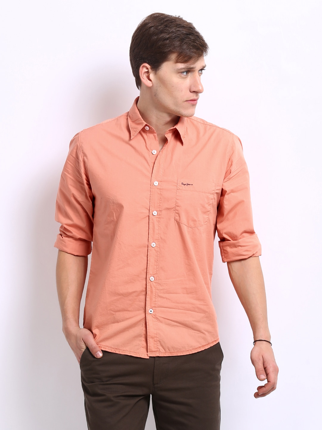 Peach Colour Shirt For Mens | Is Shirt
