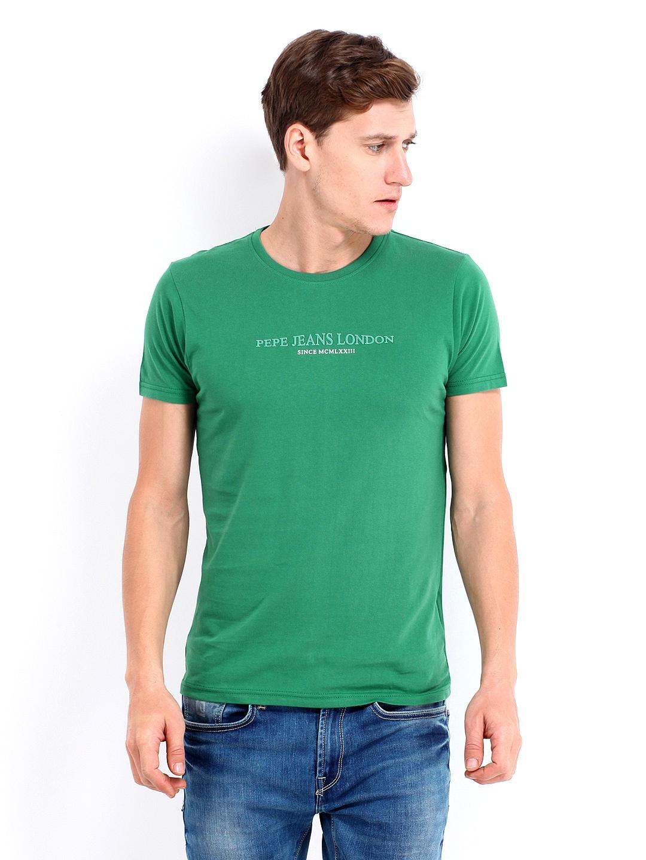 Pepe Pepe Jeans Men Green Printed T-Shirt (Multicolor)