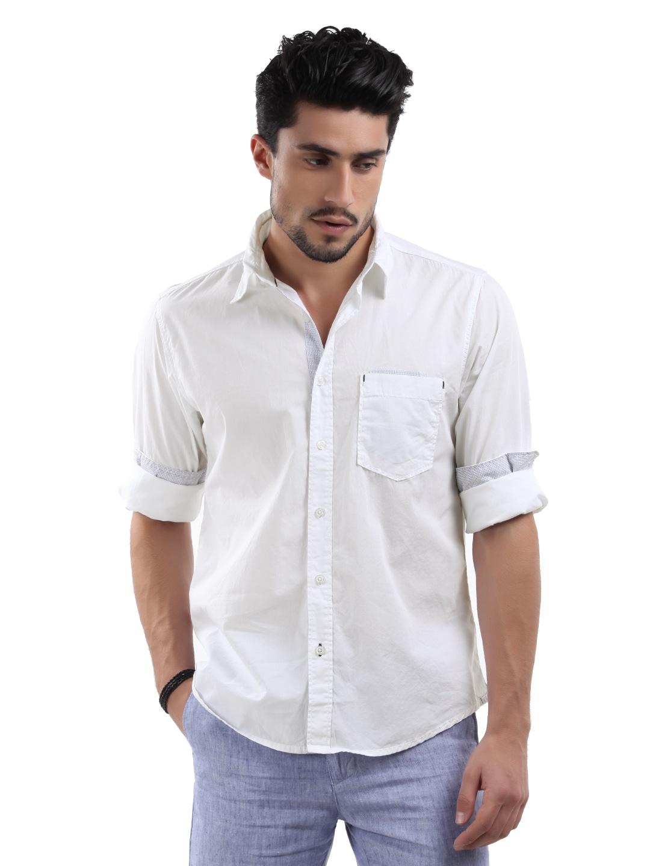 Buy Pepe Jeans Men White Melrose Shirt - 320 - Apparel for Men - 106750