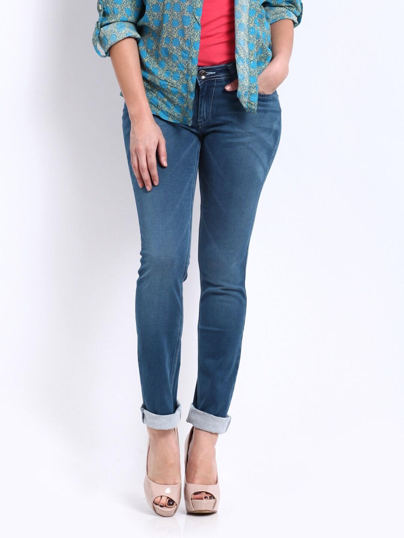 Pepe Jeans Women Blue Frisky Slim Fit Jeans