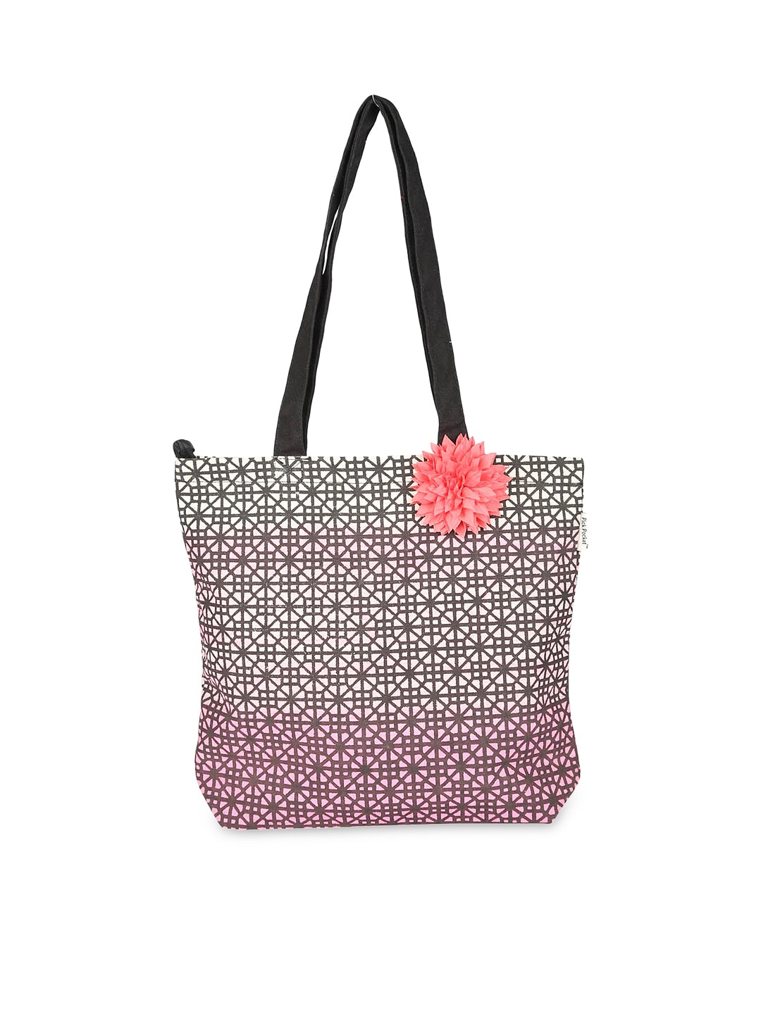 Pick Pocket Women Pink Ombre-Dyed Printed Tote Bag