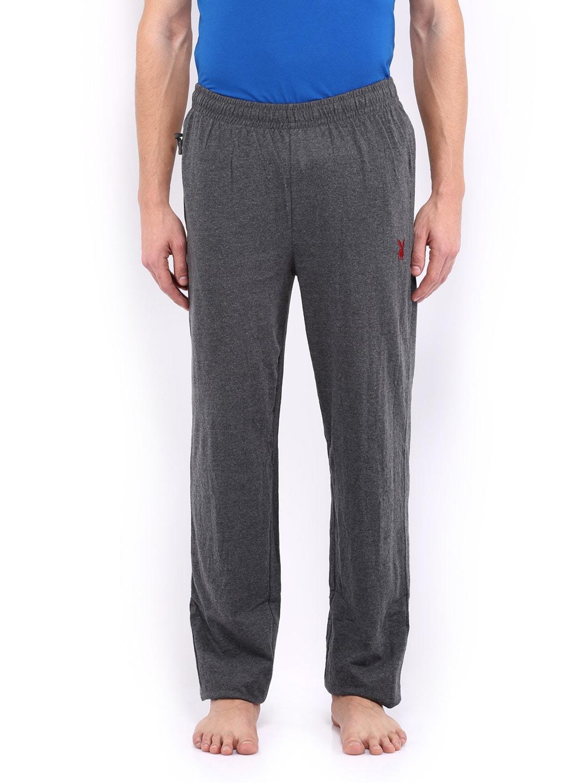 Playboy Men Charcoal Grey Lounge Pants LWPJ