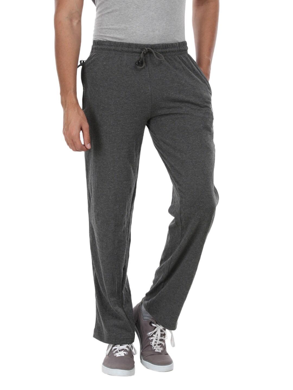 Playboy Playboy Men Charcoal Grey Lounge Pants (Multicolor)