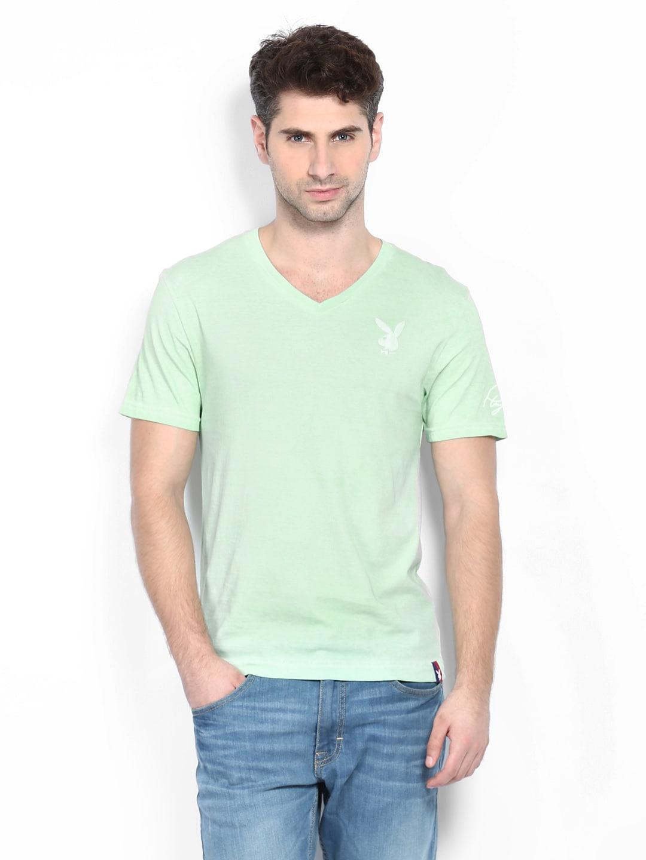 Playboy Playboy Men Mint Green T-Shirt (Multicolor)
