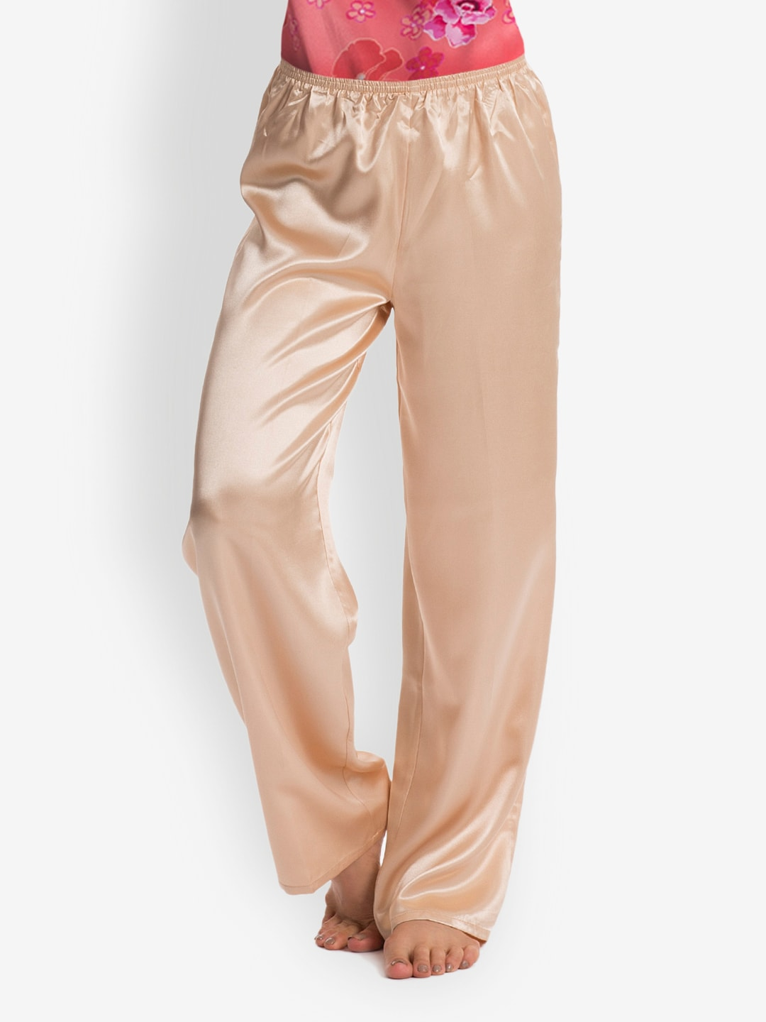 Pretty Secrets Gold Toned Satin Lounge Pants