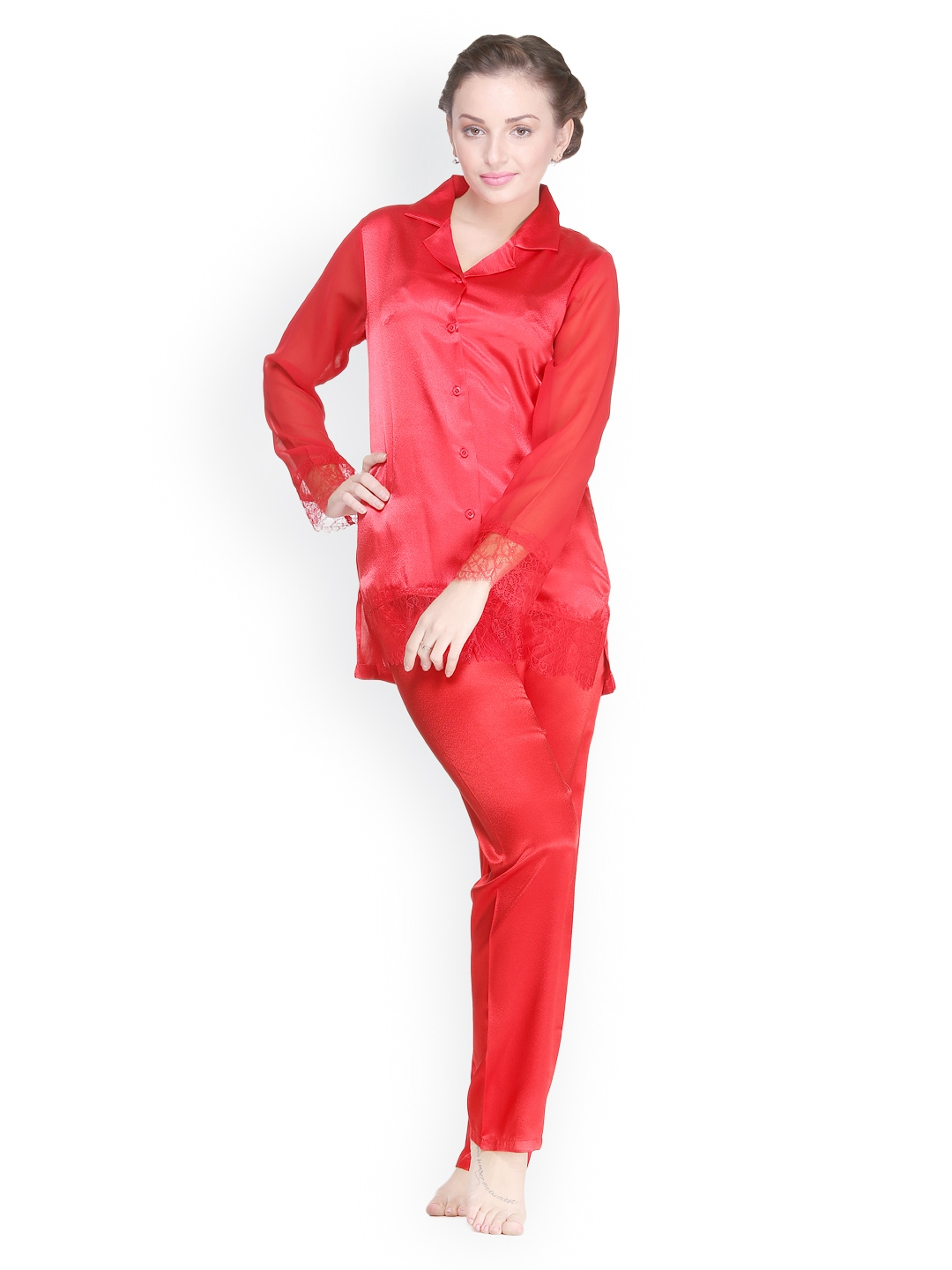 Private Lives Women Red Night Suit NS2219