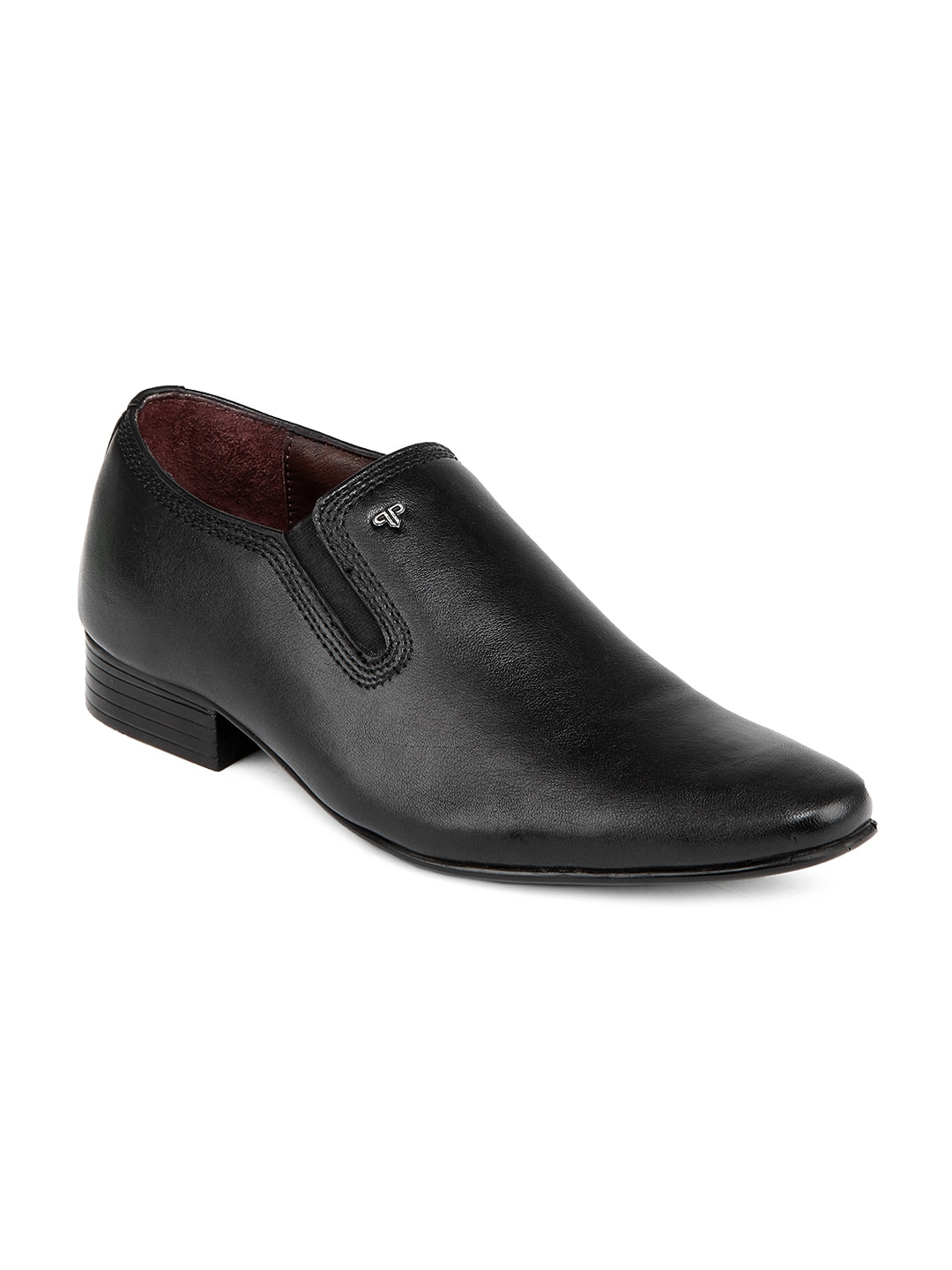 buy provogue black semi formal leather shoes 288