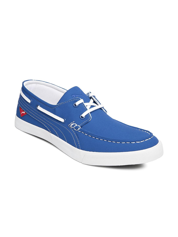 Buy Puma Men Blue Yacht Cvs Boat Shoes - Footwear for Men