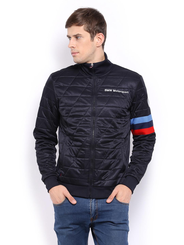 buy puma men navy bmw motorsport padded jacket 292. Black Bedroom Furniture Sets. Home Design Ideas
