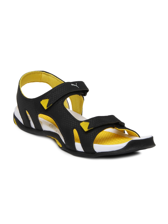 142b4c697fe9 Puma Cat Black Sports Sandal - Buy Puma Cat Black Sports Sandal online in  India
