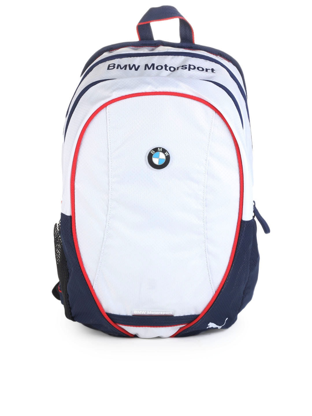 buy puma unisex white bmw motorsport backpack 294. Black Bedroom Furniture Sets. Home Design Ideas