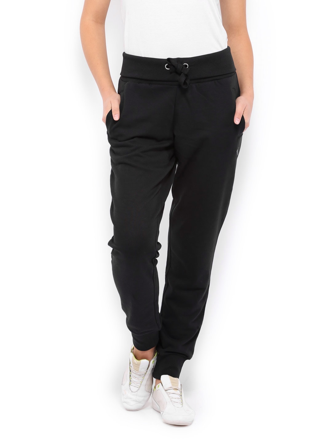 Puma Women Black Loose Fit Track Pants