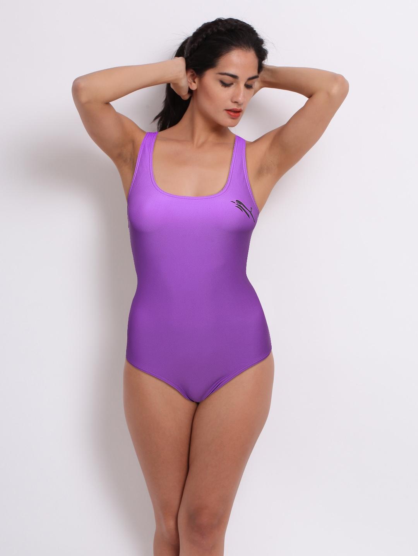 Puma Puma Women Purple Swimsuit (Violet)