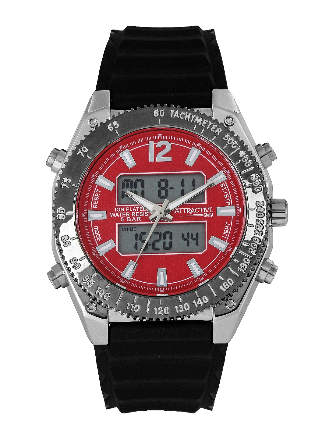 Q&Q Attractive Men Red Analogue & Digital Watch DE00J312Y