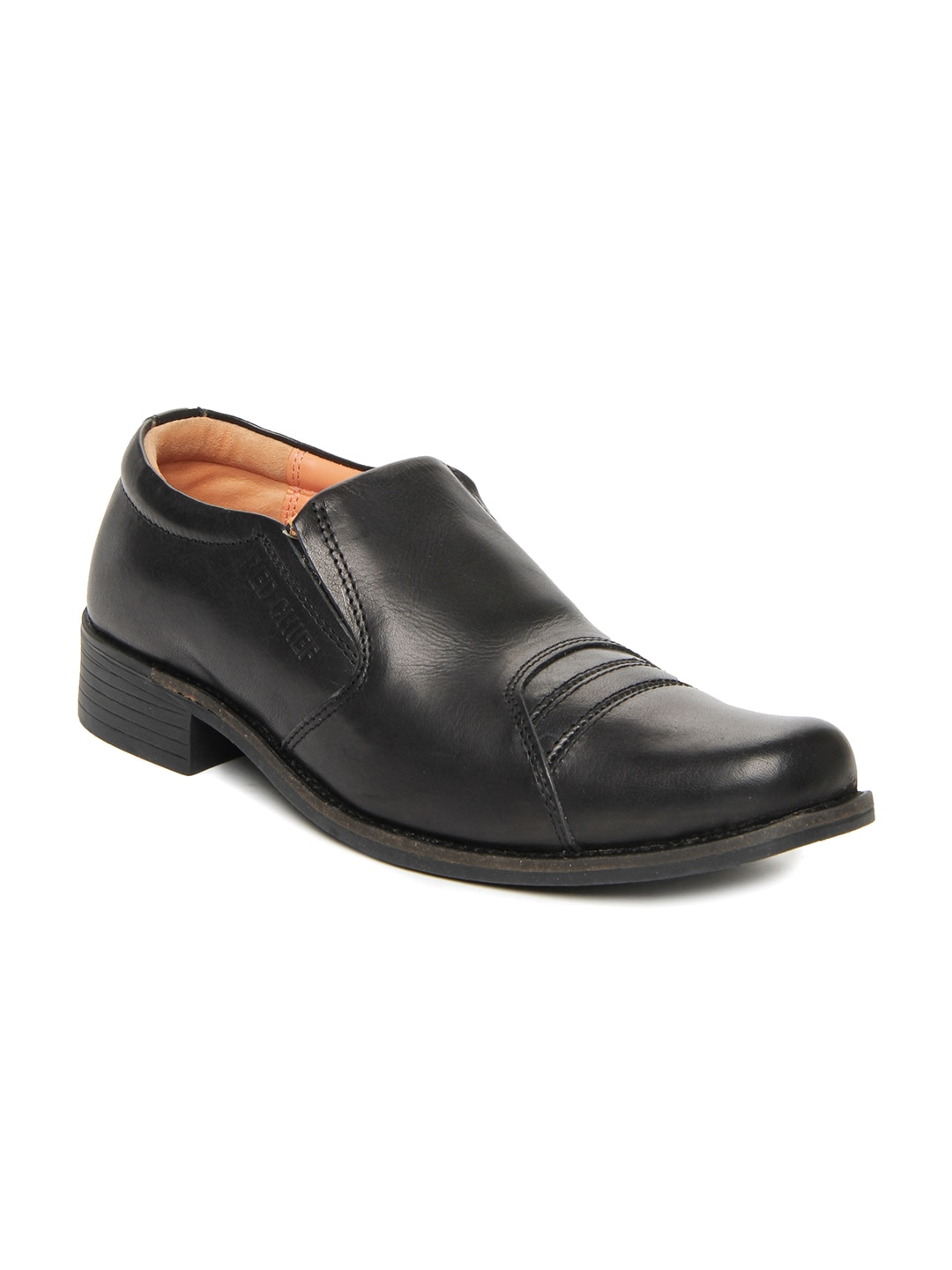 buy chief black leather semi formal shoes 633