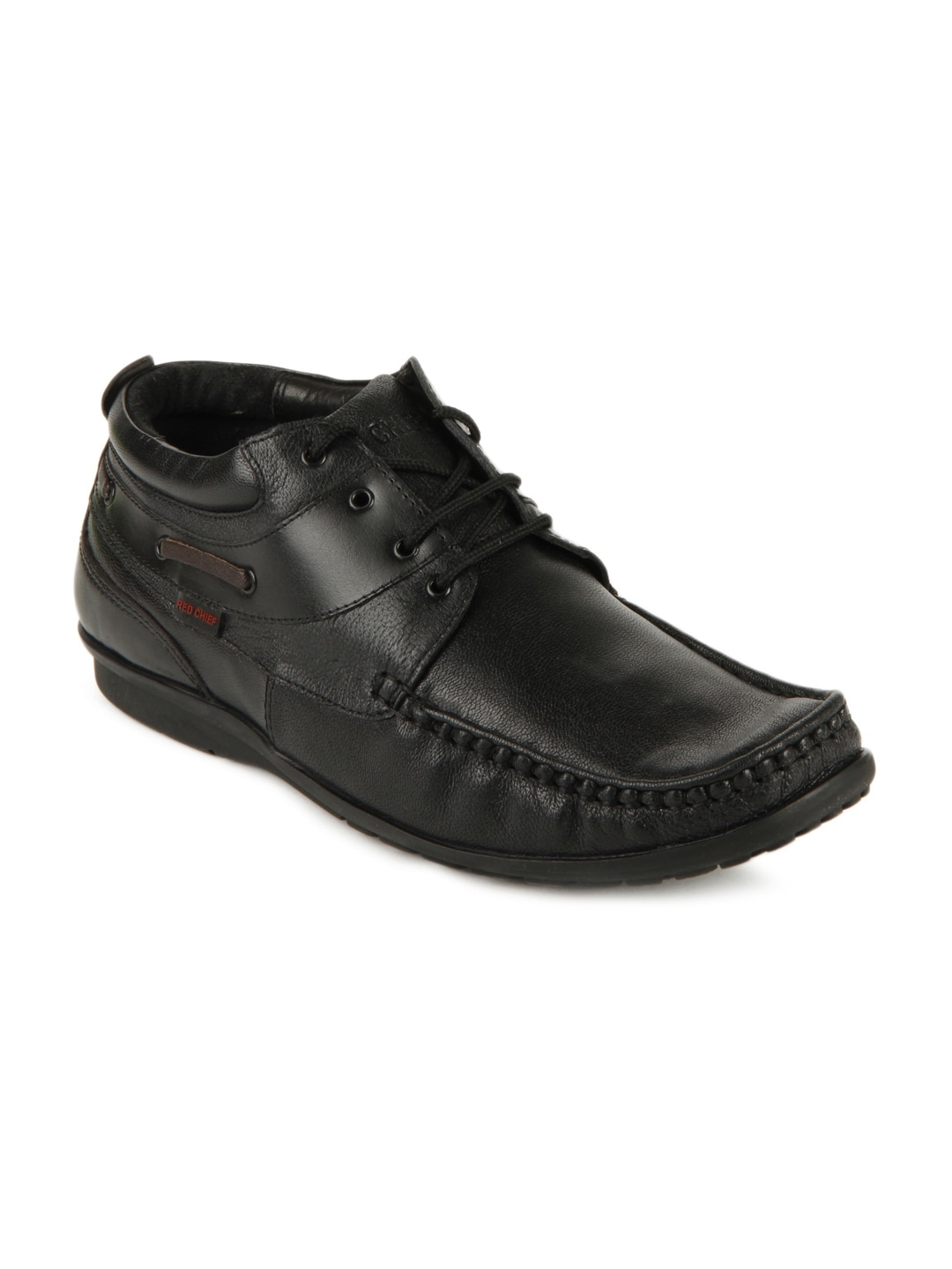 Red Chief Men Black Casual Leather Shoes