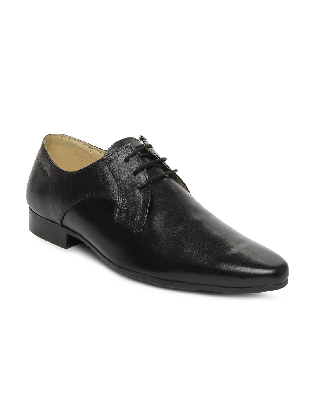 buy black leather formal shoes 633