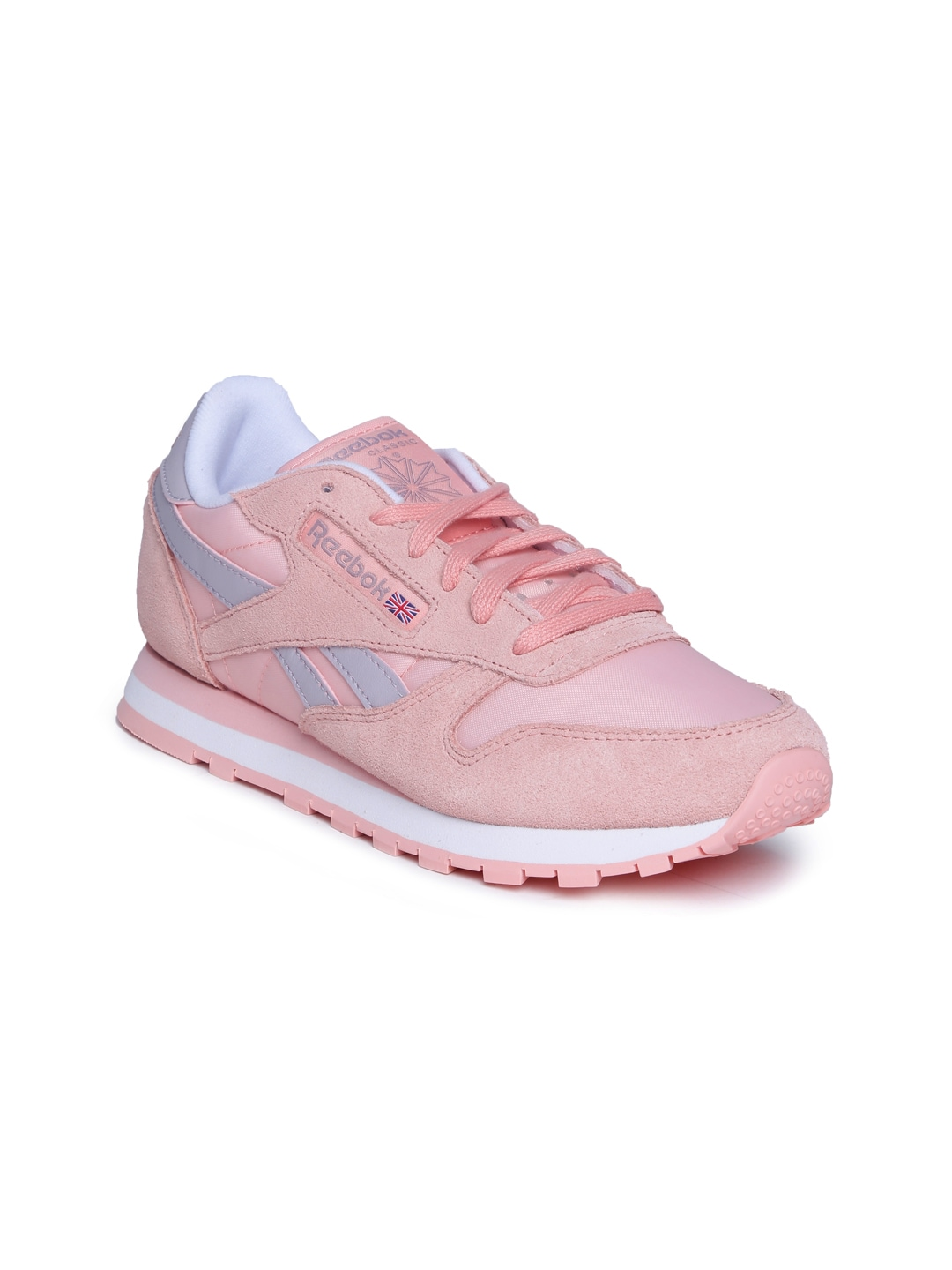 Buy Reebok Classic Women Baby Pink Suede Running Shoes