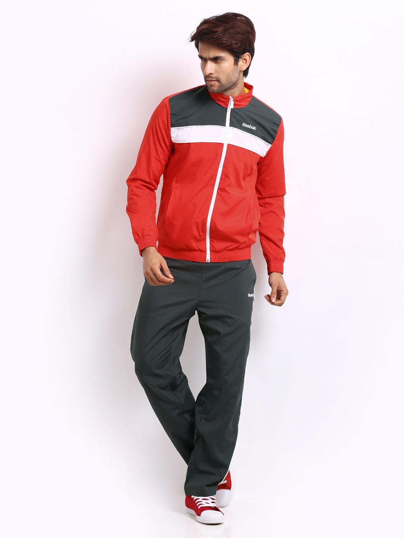 Good Watch Brands For Men >> Buy Reebok Men Red & Charcoal Grey Tracksuit - 524 ...