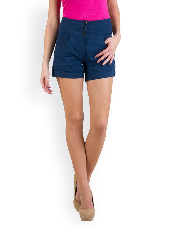 Rider Republic Women Blue Shorts