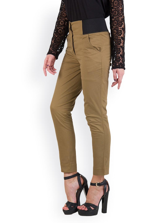 Rider Republic Women Brown Slim Fit Trousers