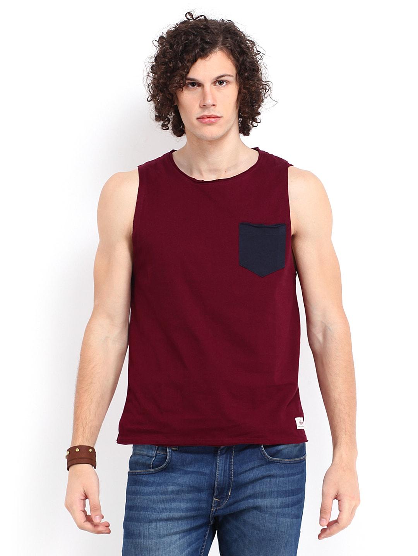 Roadster Men Maroon T-shirt