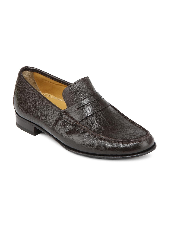 Ruosh Work Classic Men Dark Brown Wrinkle Resistant Slip On Shoes