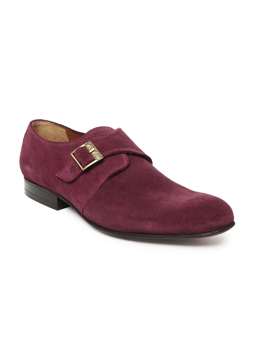 Ruosh Men Red Suede Formal Shoes