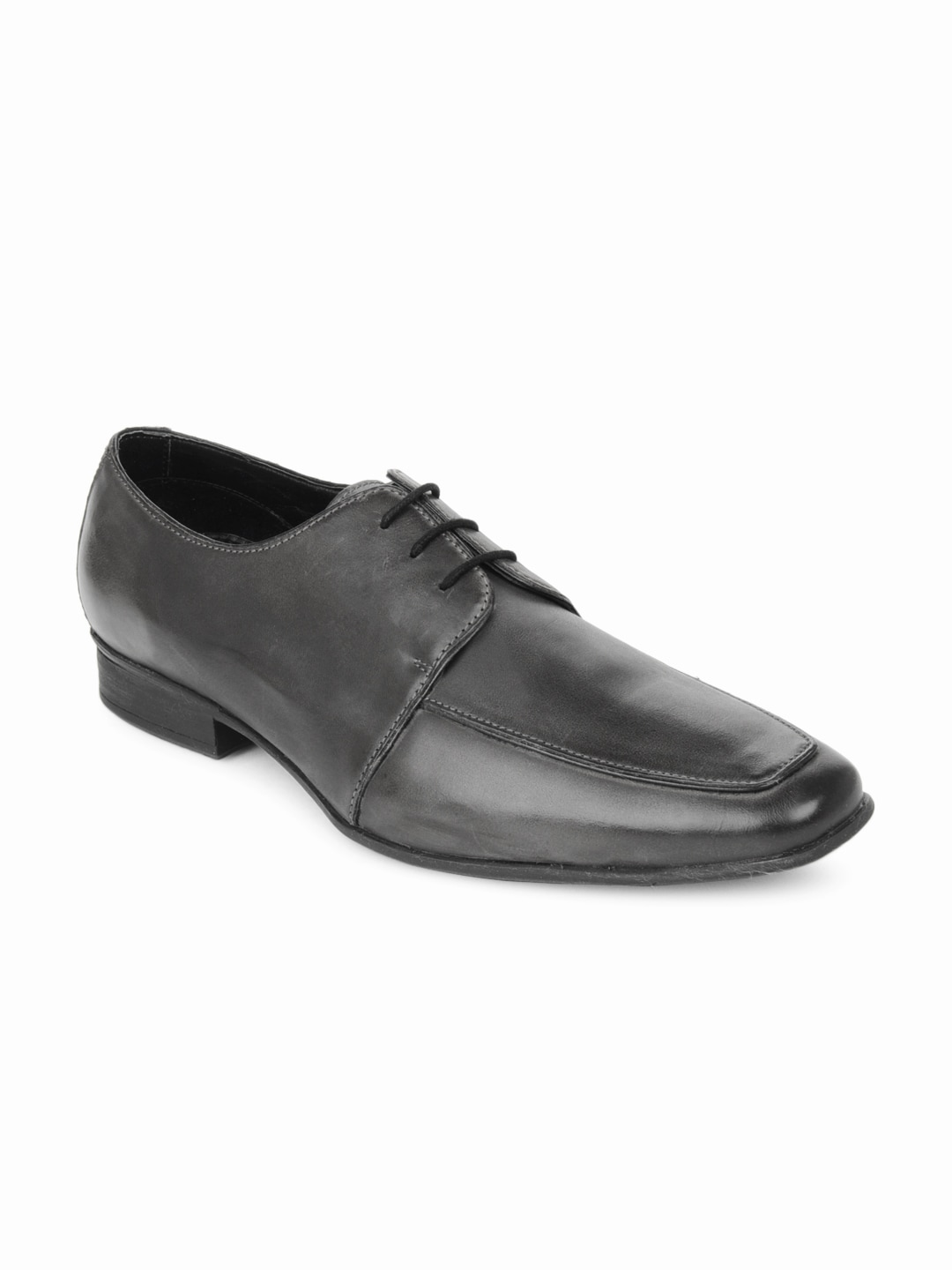 Ruosh Work Semi-Formal Men Grey Two Tone Finish Leather Derby Shoes