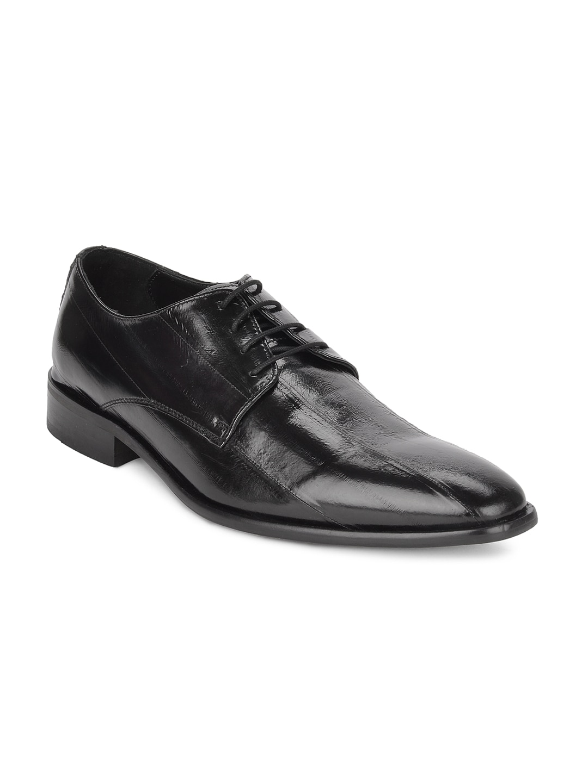 Ruosh Wedding Men Black Derby Shoes