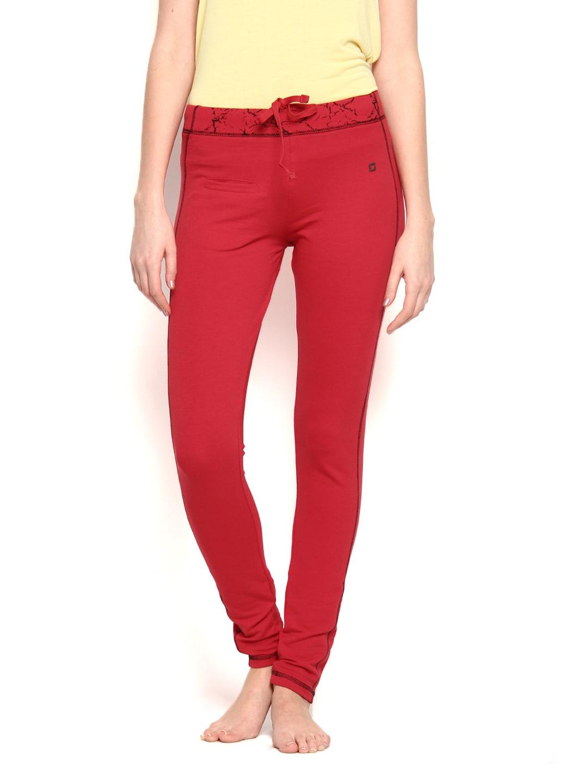 SDL by Sweet Dreams Women Red Lounge Pants F-LYP-5101