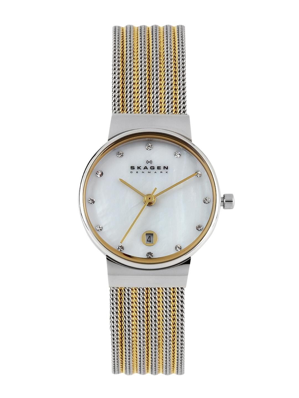 SKAGEN Women Pearly-White Dial Watch 355SSGSI