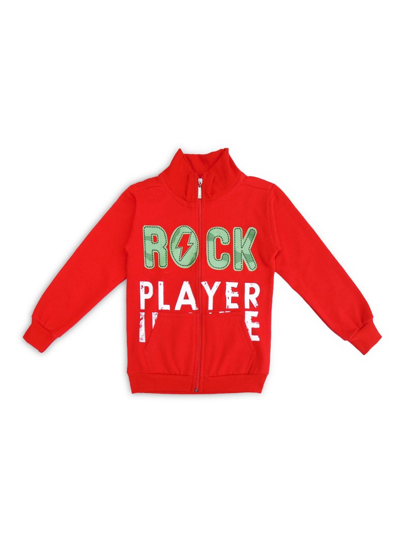 SWEET ANGEL Boys Red Printed Sweatshirt