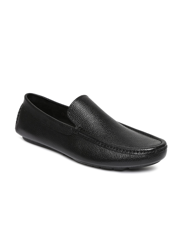 San Frissco Men Black Leather Loafers