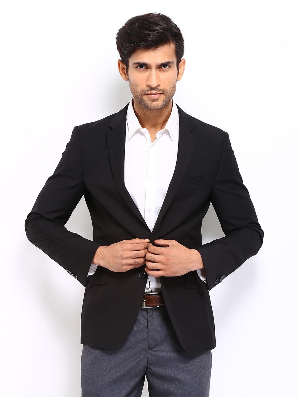 Buy Sisley Men Black Formal Jacket 1318152 for men online in india