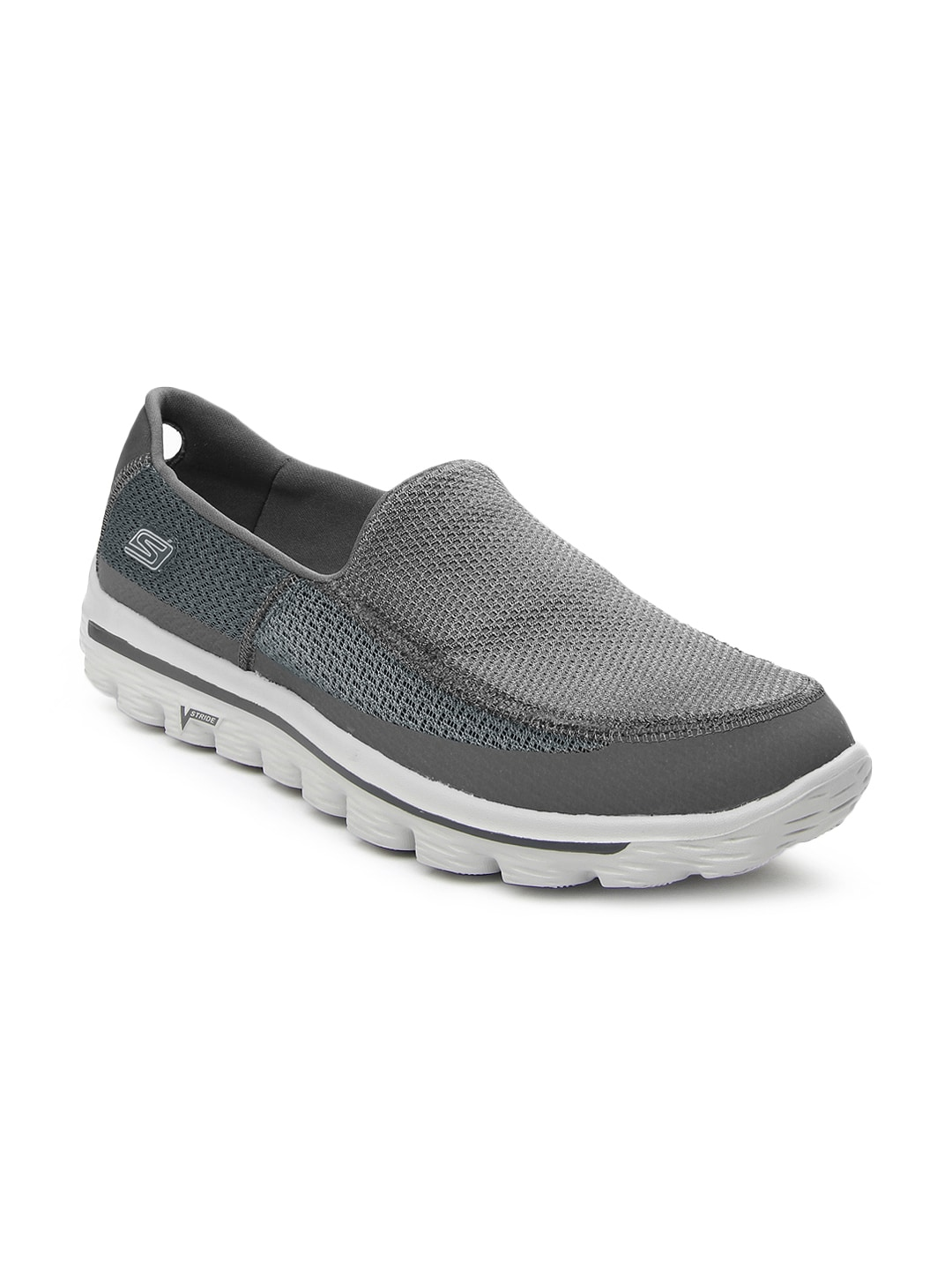 ea74fe603fe0 Buy Skechers Men Grey Go Walk 2 Sports Shoes 1405780 for men ...