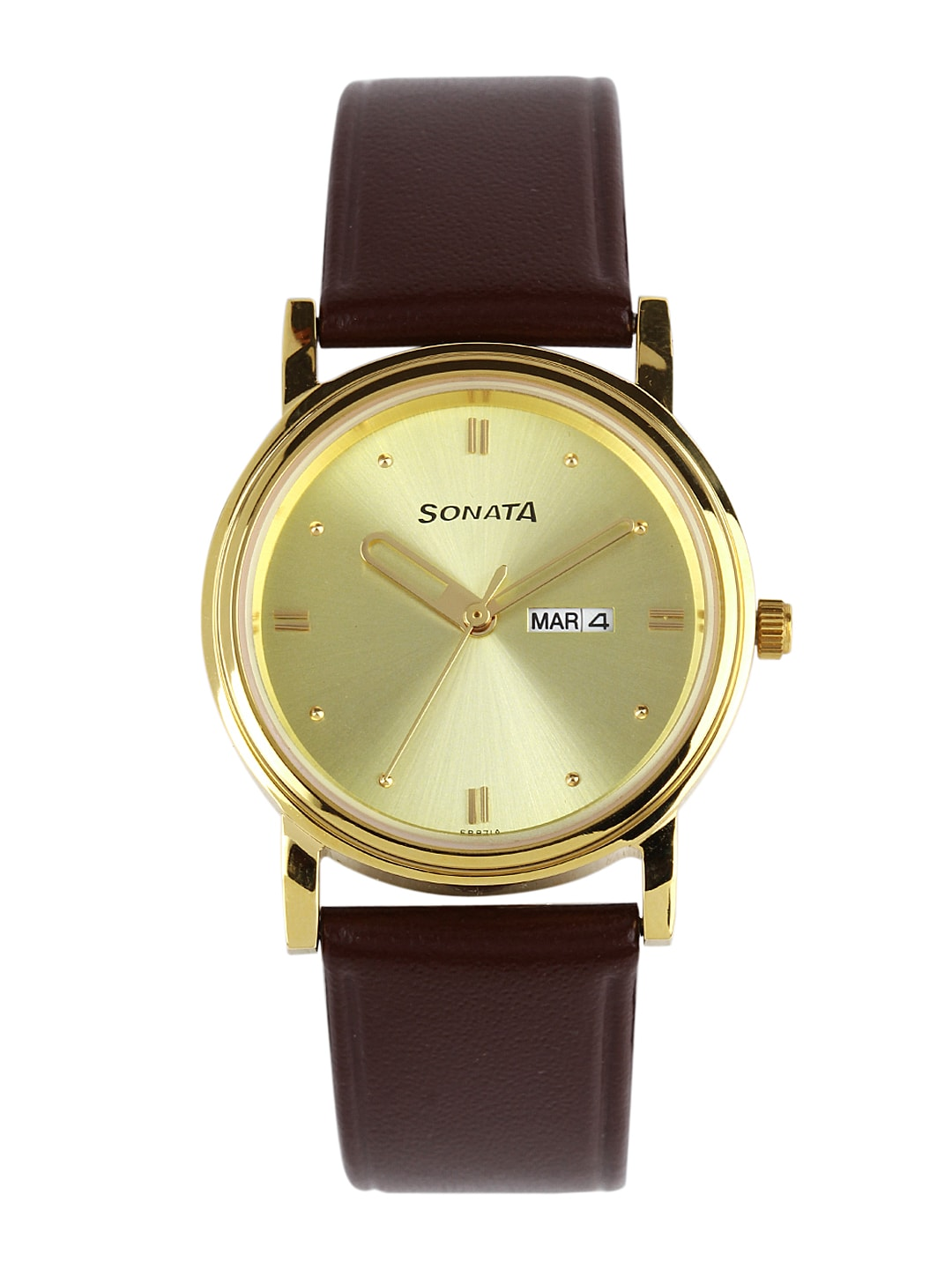 Sonata Men Gold-Toned Dial Watch ND1141YL13