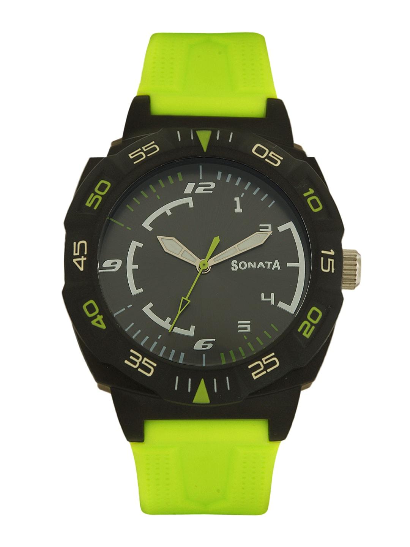 Sonata Men Grey Dial Watch 77008PP03
