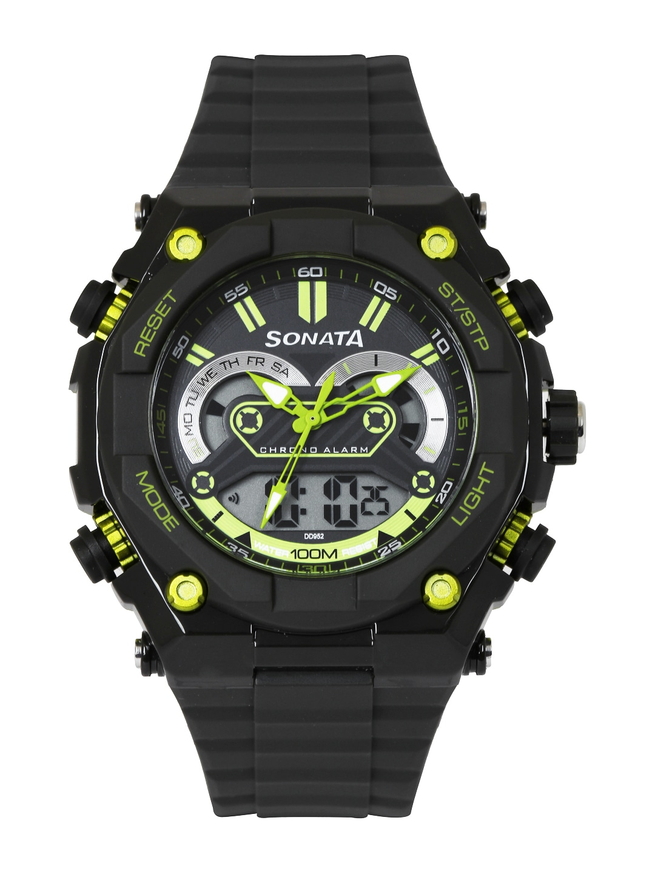 Sonata Men Grey Analogue & Digital Watch 77030PP02J