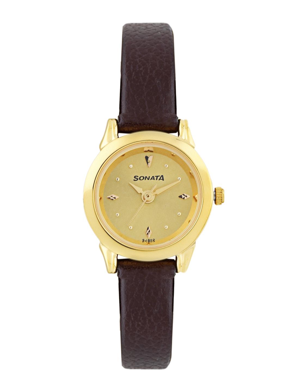 Sonata Women Gold-Toned Dial Watch ND8925YL02J
