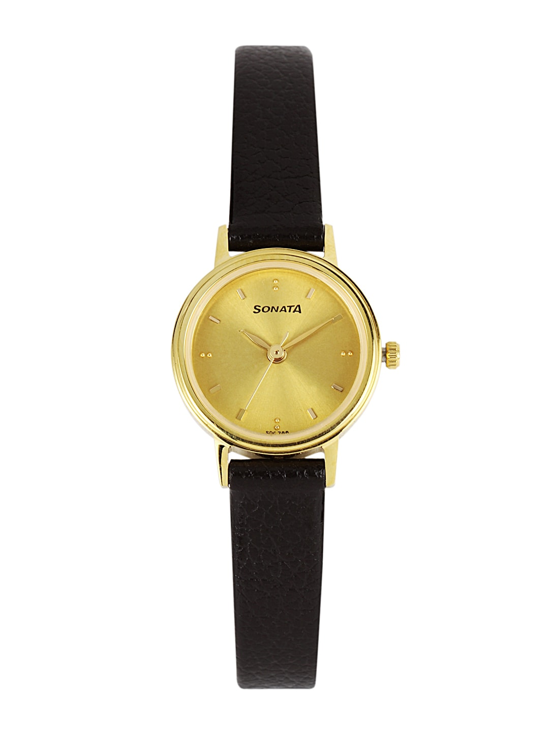 Sonata Women Gold-Toned Dial Watch 8096YL02