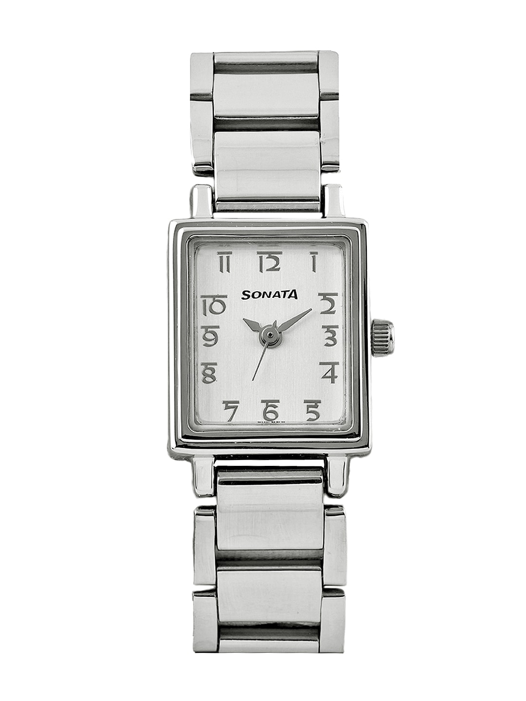Sonata Women Silver-Toned Dial Wedding Collection Watch 8080SM02